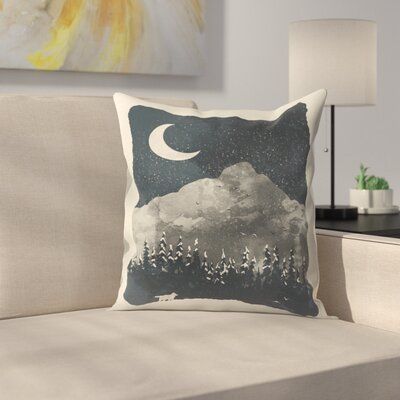 Finds The Wolf Throw Pillow Size: 16 x 16