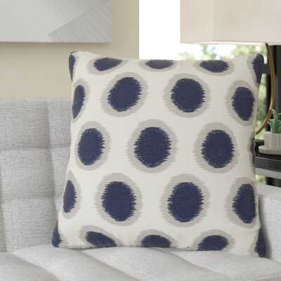 Jacob 100% Linen Throw Pillow Cover Size: 22 H x 22 W x 0.25 D, Color: NeutralBlue
