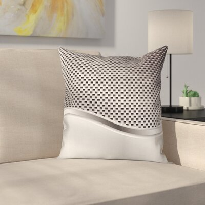 Grid Motif Square Cushion Pillow Cover Size: 18 x 18