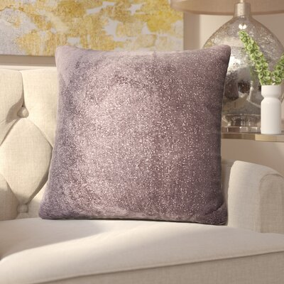 Sola Throw Pillow Size: 16, Color: Meteor