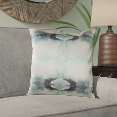 Antram Silk Pillow Cover Size: 22 H x 22 W x 1 D, Color: Neutral/Green