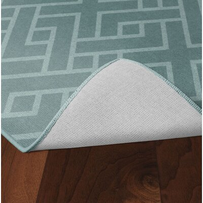 Tarsha Seafoam Green Area Rug Rug Size: Rectangle 76 x 10