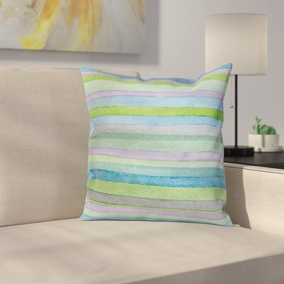 Horizontal Stripe Pillow Cover Size: 24 x 24