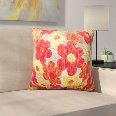 Sturm Floral Linen Throw Pillow