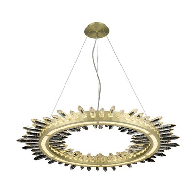 Kohlmeier 1-Light LED Crystal Pendant Finish: Brushed Brass