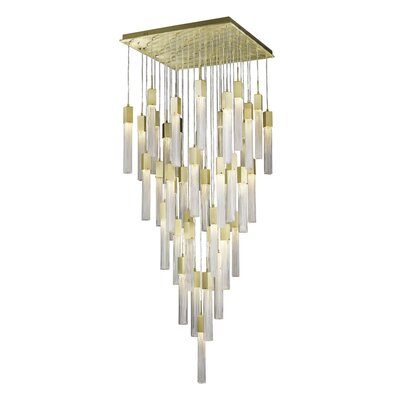 Oldenburg 41-Light LED Cluster Pendant Finish: Brushed Brass