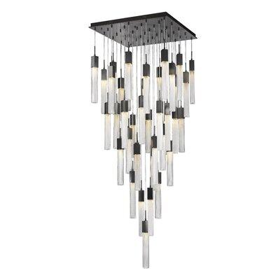Oldenburg 41-Light LED Cluster Pendant Finish: Dark Bronze