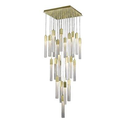 Oldenburg 25-Light LED Cluster Pendant Finish: Brushed Brass