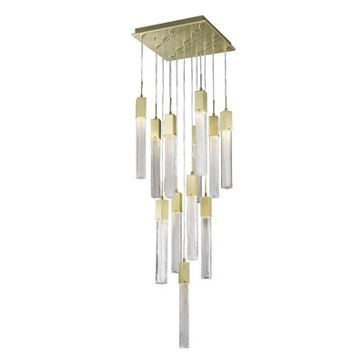 Oldenburg 13-Light LED Cluster Pendant Finish: Brushed Brass