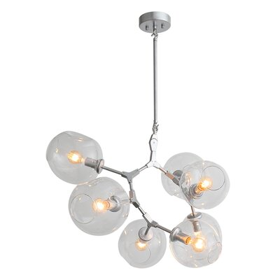 Grier 7-Light LED Sputnik Chandelier Finish: Matte Chrome