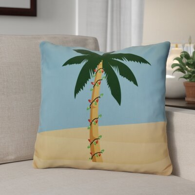 Decorative Holiday Geometric Print Throw Pillow Size: 18 H x 18 W, Color: Blue