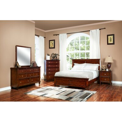 Holahan Rails and Slats Size: Full, Color: Brown Cherry