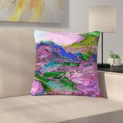 Ebi Emporium Bring on Bohemia Outdoor Throw Pillow Size: 16 H x 16 W x 5 D, Color: Blue/Purple