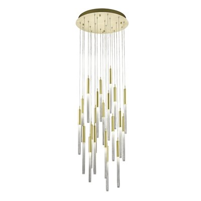 Oldenburg 21-Light LED Cluster Pendant Finish: Brushed Brass
