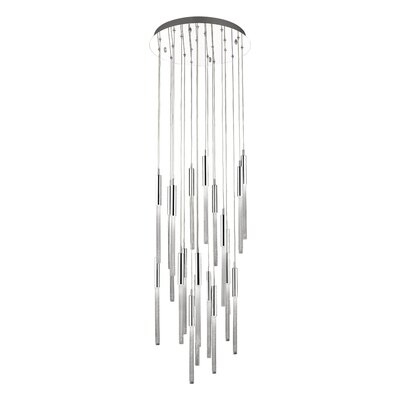 Oldenburg 21-Light LED Cluster Pendant Finish: Polished Nickel