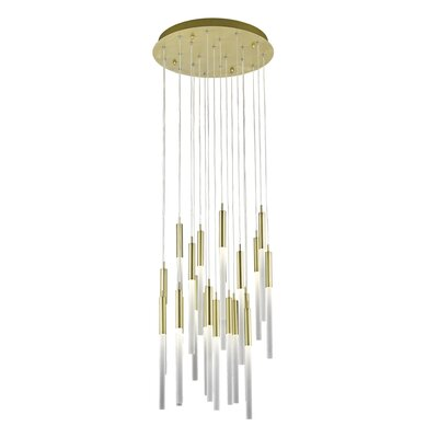 Kohn 21-Light LED Cluster Pendant Finish: Brushed Brass