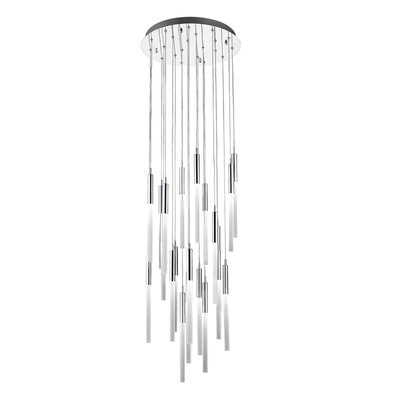 Kohn 21-Light LED Cluster Pendant Finish: Polished Nickel