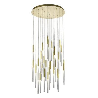 Oldenburg 31-Light LED Cluster Pendant Finish: Brushed Brass