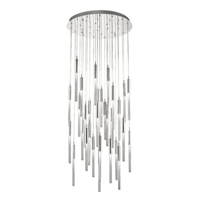 Oldenburg 31-Light LED Cluster Pendant Finish: Polished Nickel