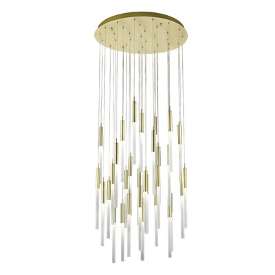 Kohn 31-Light LED Cluster Pendant Finish: Brushed Brass