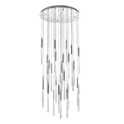 Kohn 31-Light LED Cluster Pendant Finish: Polished Nickel