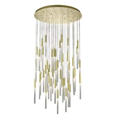 Oldenburg 51-Light LED Cluster Pendant Finish: Brushed Brass