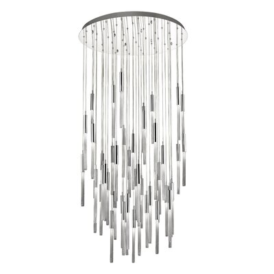 Oldenburg 51-Light LED Cluster Pendant Finish: Polished Nickel