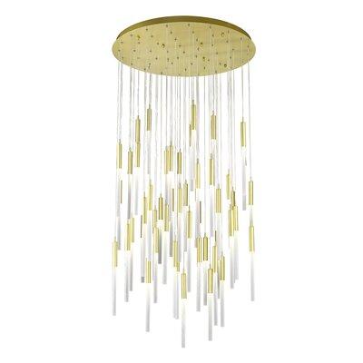 Kohn 51-Light  LED Cluster Pendant Finish: Brushed Brass