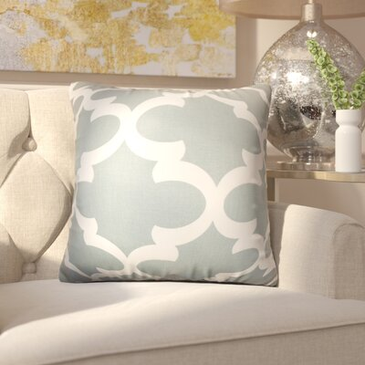 Chitwood Geometric Cotton Throw Pillow Color: Gray