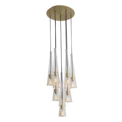 Hedgesville 10-Light Cluster Pendant
