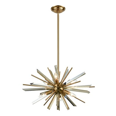 Kolb 6-Light Sputnik Chandelier Finish: Antique Brass