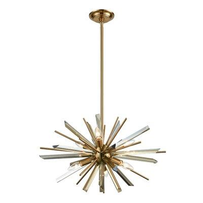 Kolb 6-Light Sputnik Chandelier Finish: Antique Brass