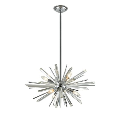 Kolb 6-Light Sputnik Chandelier Finish: Polished Chrome