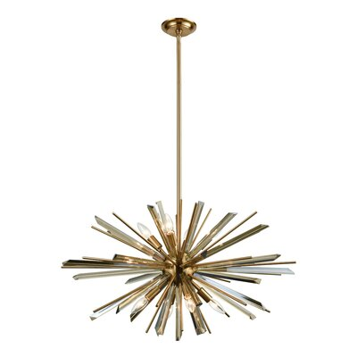 Kolb 8-Light Sputnik Chandelier Finish: Antique Brass