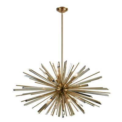 Kolb 10-Light Sputnik Chandelier Finish: Antique Brass