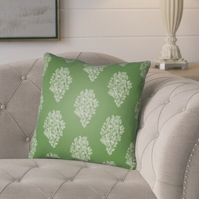 Glengormley Throw Pillow Size: 22 H x 22 W x 5 D, Color: Green/White