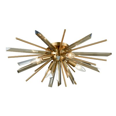 Kolb 4-Light Flush Mount Finish: Antique Brass