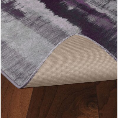 Demetrius Purple/Gray Area Rug Rug Size: Rectangle 26 x 310