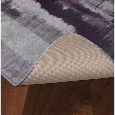 Demetrius Purple/Gray Area Rug Rug Size: Rectangle 34 x 5