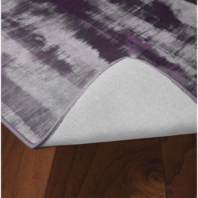 Demetrius Purple/Gray Area Rug Rug Size: Rectangle 76 x 10
