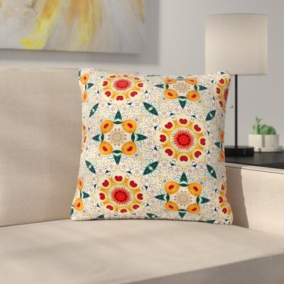 Laura Nicholson Peach Heart Outdoor Throw Pillow Size: 16 H x 16 W x 5 D