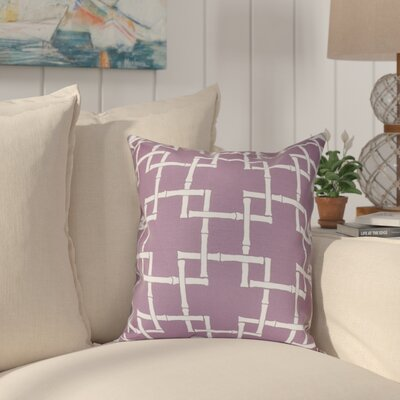 Connelly Bamboo 1 Geometric Throw Pillow Size: 18 H x 18 W, Color: Purple