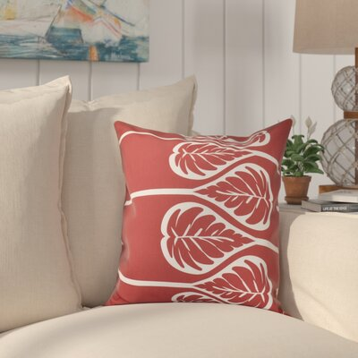 Hilde Outdoor Throw Pillow Size: 18 H x 18 W, Color: Coral