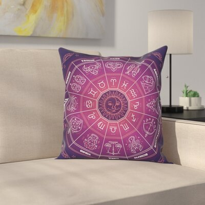 Astrological Signs Square Pillow Cover Size: 20 x 20