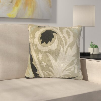 Driskill Stukes Floral Cotton Throw Pillow Color: Black