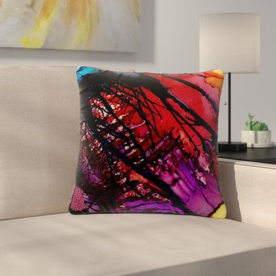 Abstract Anarchy Design Daisy Outdoor Throw Pillow Size: 18 H x 18 W x 5 D
