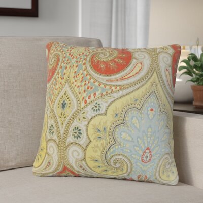 Derosier Damask Linen Throw Pillow Color: Red