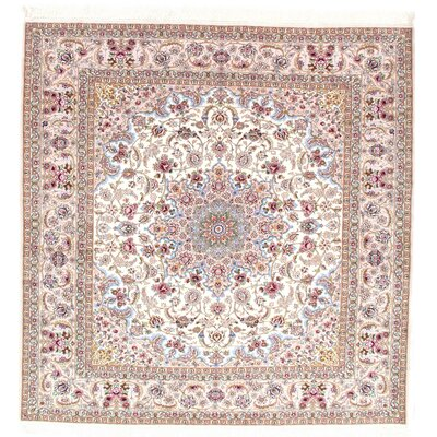 Genuine Super Fine Persian Isfahan Hand-Knotted Pink Area Rug