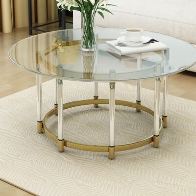 Haydel Tempered Glass Coffee Table