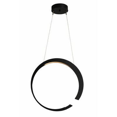 Pendarvis 1-Light LED Geometric Pendant Finish: Black